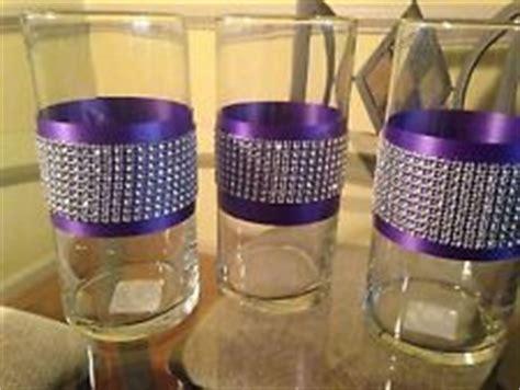 Bulk Wedding Vases Cylinder Rhinestone Vase Glass Cylinder Vases Purple And