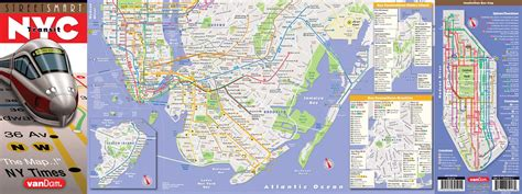streetsmart nyc midtown manhattan map by vandam laminated pocket sized city map with all attractions museums broadway theaters hotels and subway map 2017 edition books nyc map by vandam nyc transit streetsmart map city