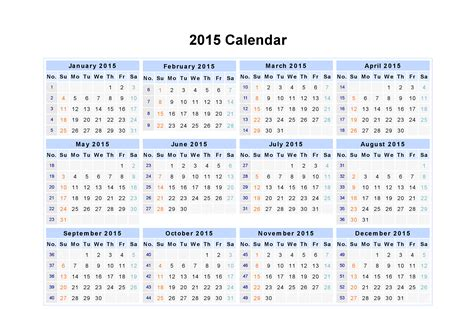 Printable Whole Year Calendar 2015 | printable 2015 calendar by month whole year html autos post