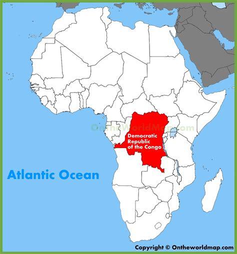 africa map democratic republic of the congo congo map in africa