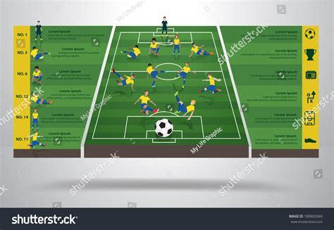 brazilian soccer football player  positions stock vector  shutterstock
