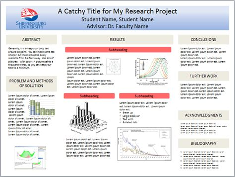 psychology poster presentation template shippensburg