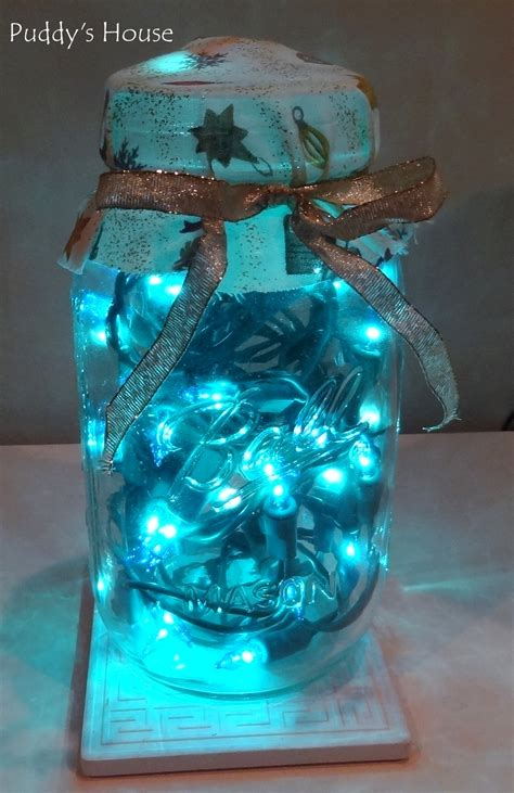 Diy Christmas Decorations Puddy S House Diy Lights In A Jar