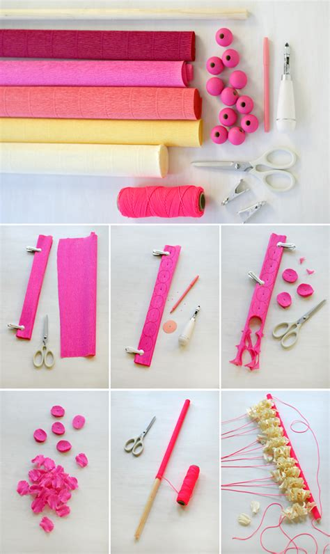 make wall decorations at home crepe paper petals wall hanging