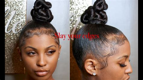 richdomyhair com how to slay your edges reloaded w twisty top knot bun