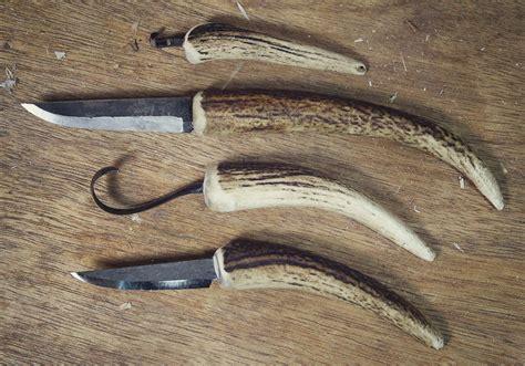 deer horn handle knives a deer antler knife handle hewn