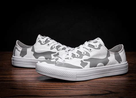 converse camouflage sneakers converse camo shoes chuck all low white grey