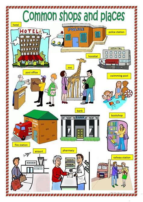 shops in my town worksheet free esl printable worksheets common shops and places part1 worksheet free esl