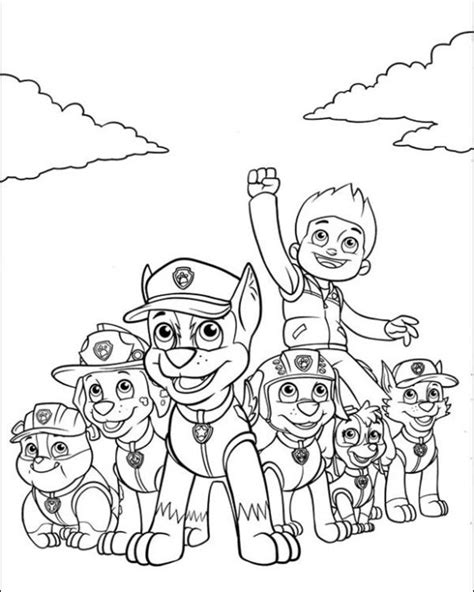 paw patrol nickelodeon coloring pages free nick jr paw patrol printable coloring page for kids