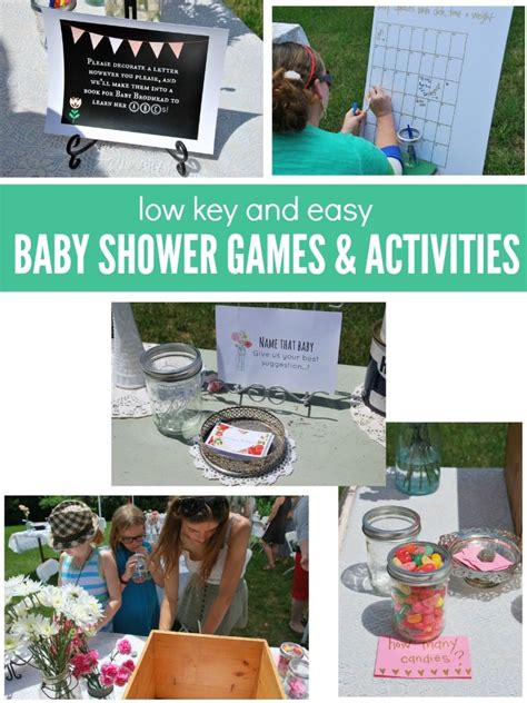 Baby Shower And Activities by Low Key Baby Shower And Activities The Sweetest Digs