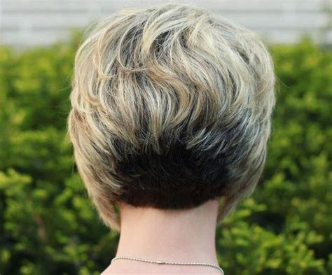 short stacked bob haircuts on pinterest back view of stacked bob hairstyle layered short