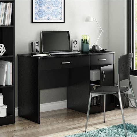 Small Laptop Desks South Shore Axess Small Black Computer Desk