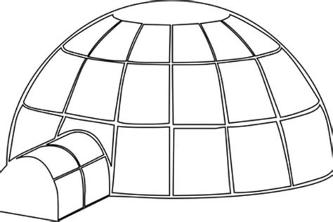 How To Make An Igloo Out Of Paper - eskimo coloring page template search results calendar 2015