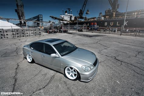 bagged gs300 lexus gs 350 dakos3