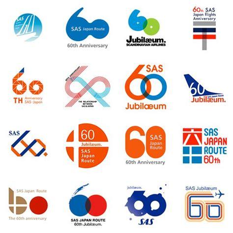 brand logo design tips 60th anniversary logo proposals for sas scandinavian airlines anniversary logos