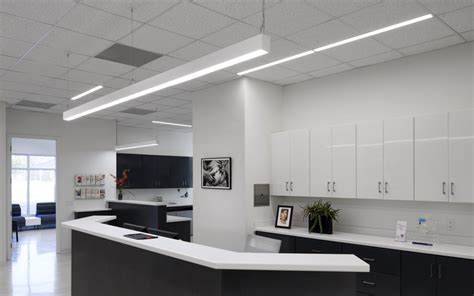 room place customer service linear office lighting modern place