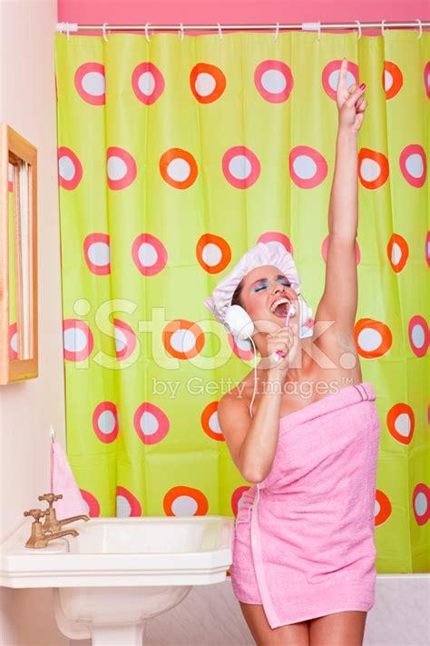 singing in bathroom morning good mood singing in bathroom humor stock photos freeimages com