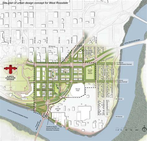 design guidelines urban planning west rossdale urban design plan edmonton ab parioplan