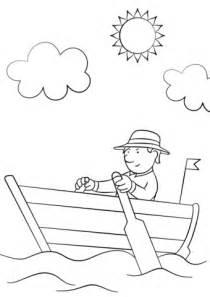 capitanes de barcos para colorear man in wooden row boat coloring page free printable