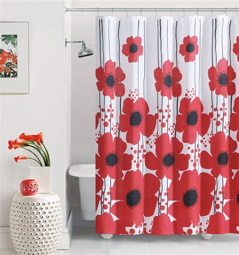 Over Bath Shower Curtain red poppy shower curtain at home at home