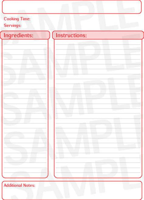 free pages templates free recipe template page free printables