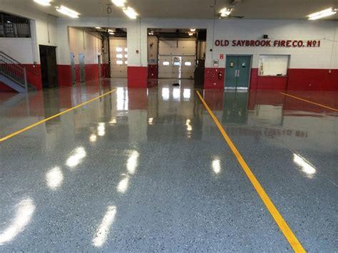 Floor Station saybrook department gets new epoxy floor