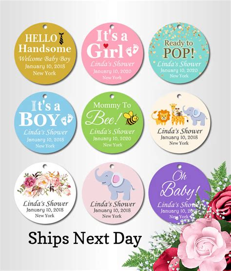 Baby Shower Favors Tags by Cheap Baby Shower Custom Tags Free Shipping Popular