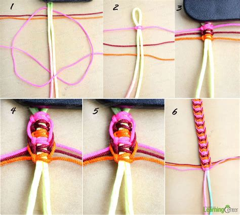Flat Macrame Bracelet - how to braid a flat hemp macrame bracelet in a different