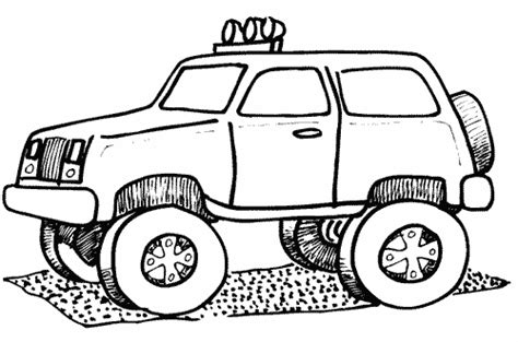 Monster Truck Coloring Pages For Boys Coloring Pages For Boys Trucks Printable