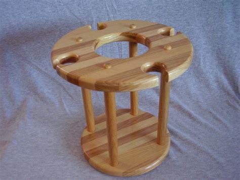 Handmade Wooden Wine Racks - handmade hickory ash wood wine bottle glass rack