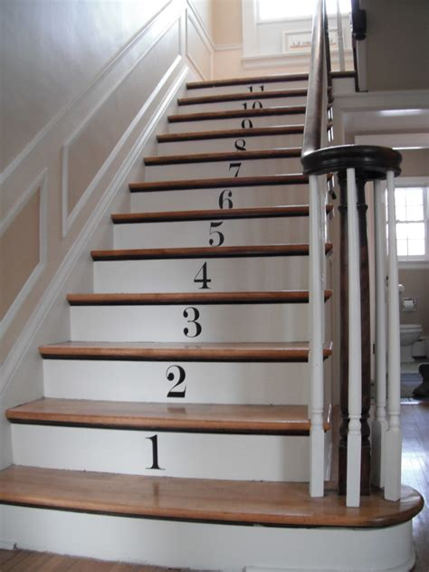 Paint By Numbers Wall Mural how to decorate stair risers with numbers decorating