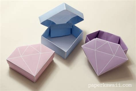 Free Origami - free printable origami box tutorial paper kawaii