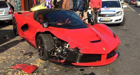ferrari laferrari crash fancy a wrecked laferrari bumper for 4 500