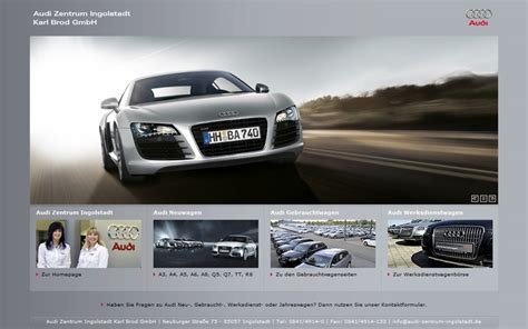Audi Brod Ingolstadt audi zentrum ingolstadt karl brod gmbh webdesign seo