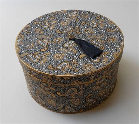 Decorative Hat Boxes custom decorative hat box in goldleaf and artisan