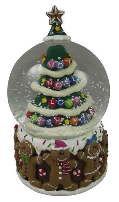 gisela graham gingerbread snowglobe christmas snow globe