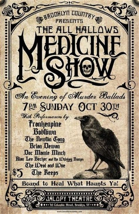 vintage style medicine old fashion medicine show poster carnival circus