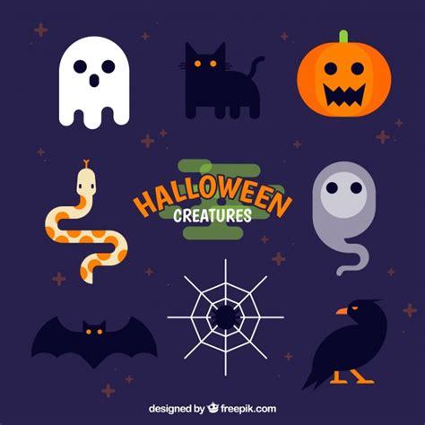 imagenes de halloween vector pack plano de elementos graciosos de halloween descargar