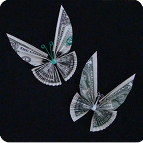 Butterfly Origami Dollar Bill - money twist tie butterfly make origami
