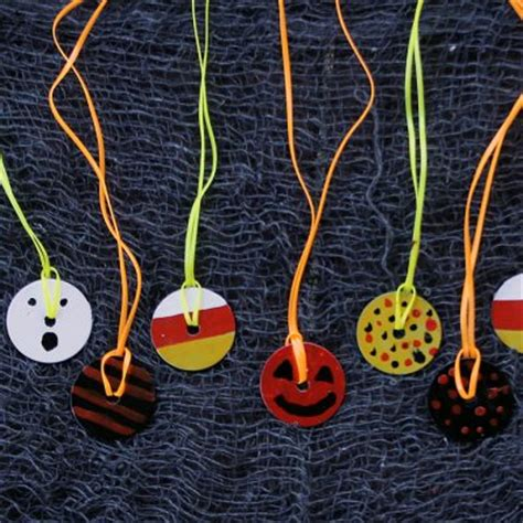 halloween washer necklace fun family crafts