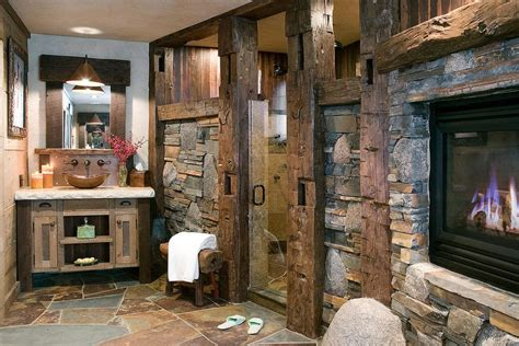 bad rustikal rustic 3 4 bathroom with european cabinets by high c