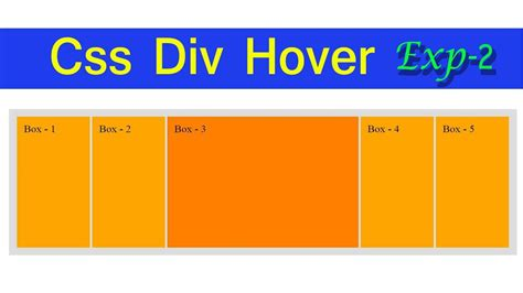 css div box hover effect using html and css exp 2