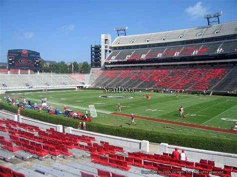 Sanford Section 8 by Sanford Stadium Section 126 Seat Views Seatscore