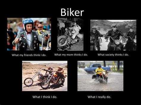 Biker Chick Meme - image 252018 what people think i do what i really