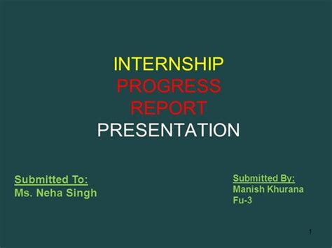 My Internship Report Authorstream Internship Presentation Template