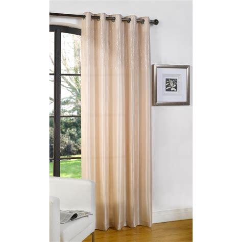 glamour curtains dreams n drapes glamour natural single silk voile panel 55