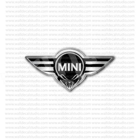 from 4 50 buy mini cooper wings skull racing emblem