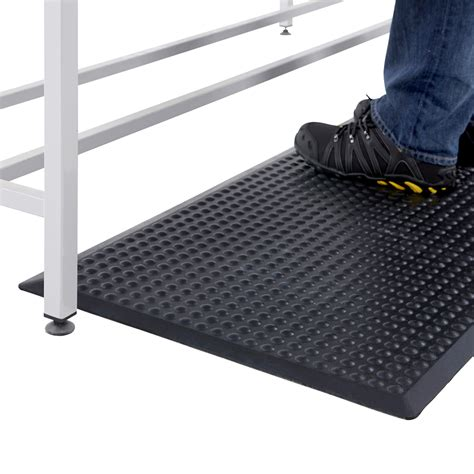 work bench mat black rubber mat anti fatigue floor workbench bubble 0 6 x