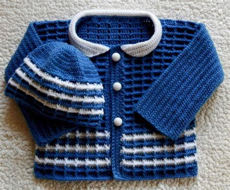 cardigan pattern for baby boy baby boy crochet sweater and hat set by sugartoebabies