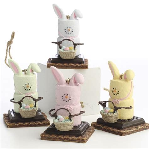 s mores marshmallow bunny ornaments christmas ornaments